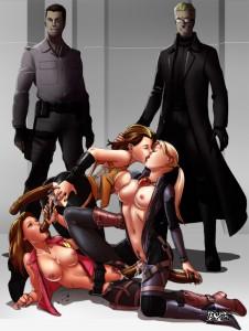 Albert_Wesker Alice_Abernathy Chris_Redfield Claire_Redfield Jill_Valentine Milla_Jovovich Resident_Evil Resident_Evil_Afterlife tekuho