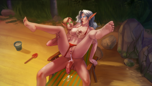 Blood elf anal creampie futanari