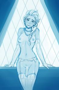 Frozen Elsa Futanari Dickgirl