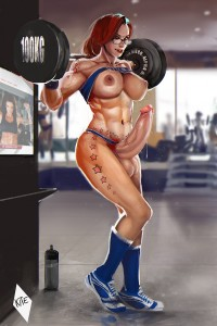 Futa Mey-Mey weight lifting by The Kite