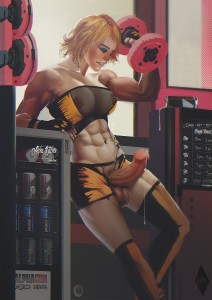 Futanari Rylee at Alpha Bitches Gym by The Kite