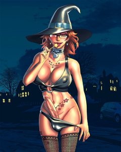 Halloween witch futanari