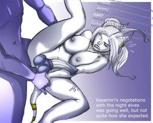 Kasamiri night elf Draenei fuck