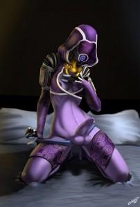 Mass Effect futanari Elzi by Evulchibi