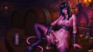 Night elf futanari by Personalami