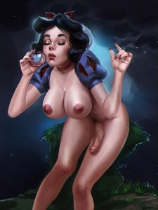 Snow White futanari