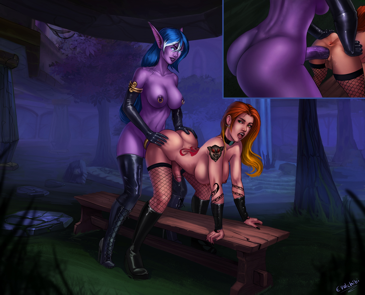 Naked night elf and WoW porn adult picture