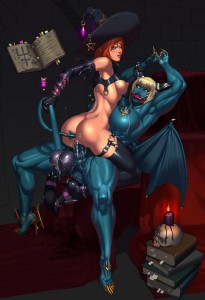 futa witch sex with demon dickgirl