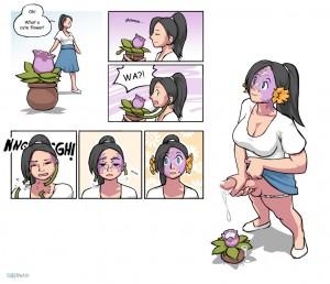 futanari_cums_on_flower