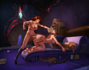 redhead futa elf fucking by Evulchibi